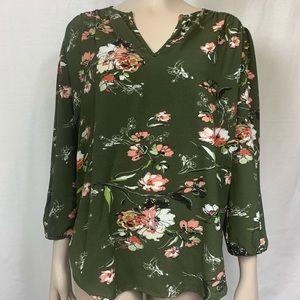 Fun2Fun flower long sleeve blouse